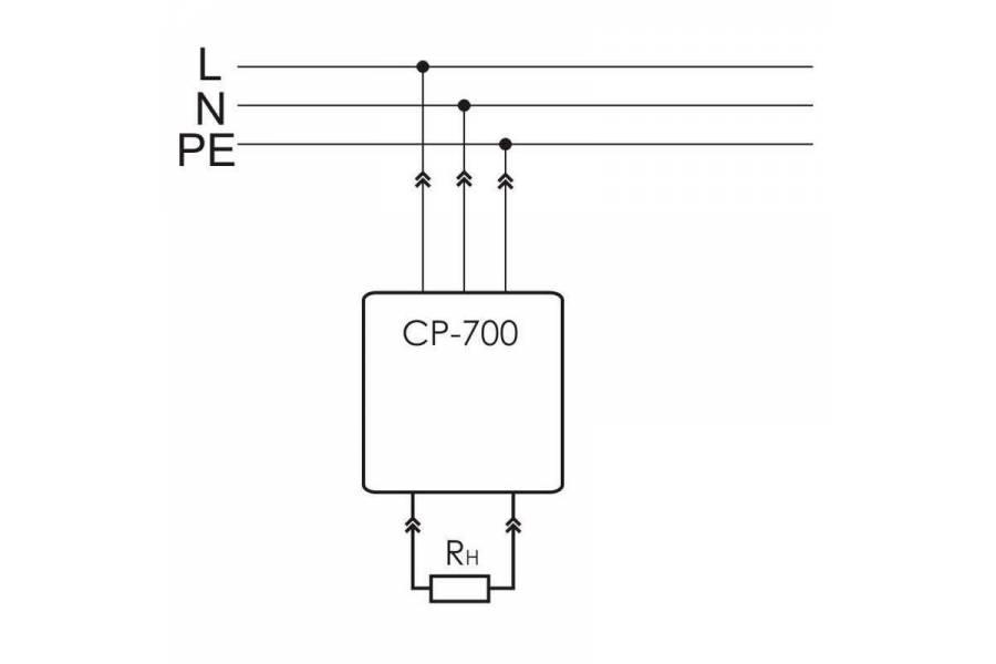 Реле напряжения CP-700 (однофазный; цифровая индикация напряжения тип корпуса вилка-розетка; 150-300В 16А 1NO IP20) F&F EA04.009.010