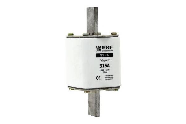 Вставка плавкая ППН-37 400/250А габарит 2 EKF fus-37/400/250