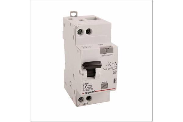 Выключатель автоматический дифференциального тока 1п (1P+N) C 20А 30мА тип AC 6кА RX3 Leg 419400