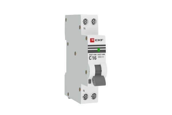Выключатель автоматический дифференциального тока 1мод. C 32А 30мА тип AC 6кА АВДТ-63М электрон. PROxima EKF DA63M-32-30