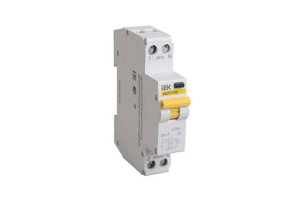 Выключатель автоматический дифференциального тока 1п C 20А 30мА тип A 4.5кА АВДТ-32М ИЭК MAD32-5-020-C-30