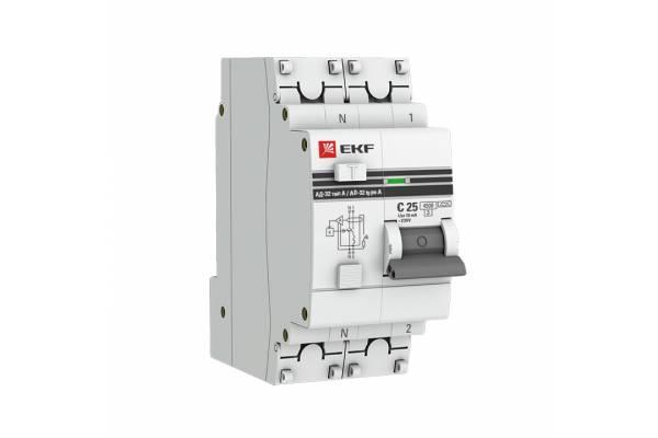 Выключатель авт. диф. тока 1п+N C 40А 300мА тип AC 4.5кА АД-32 PROxima EKF DA32-40-300-pro