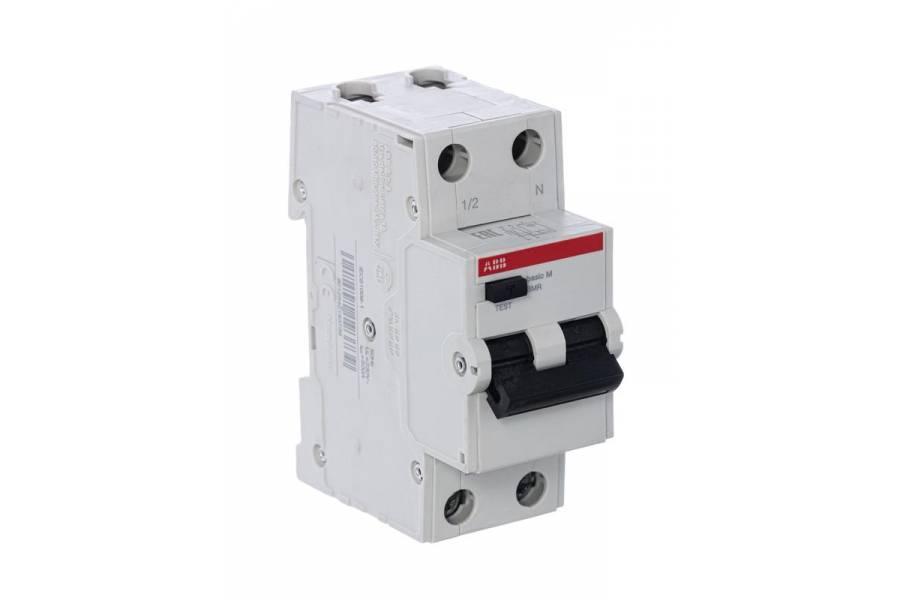Выключатель авт. диф. тока 2п С 20А 30мА 4.5кА тип AC Basic M BMR415C20 ABB 2CSR645041R1204
