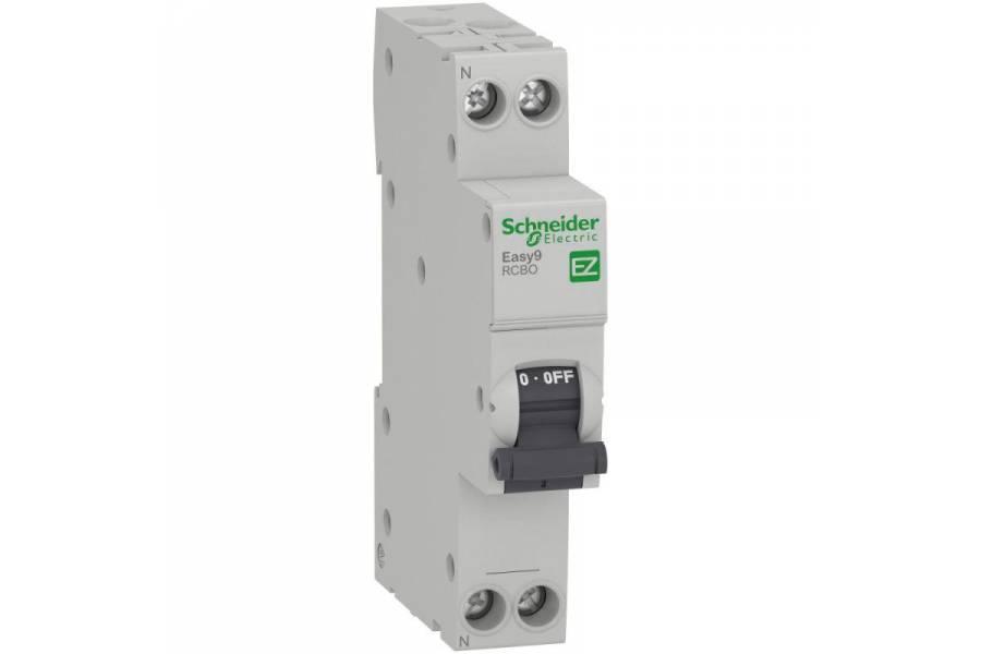 Выключатель автоматический диф. тока 1P+N C 6А 30мА 4.5кА AC 18мм SchE EZ9D33606