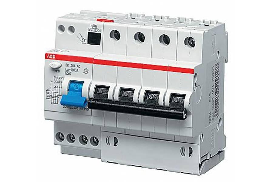 Выключатель авт. диф. тока 4п 6мод. C 16А 30мА тип AC 6кА DS204 ABB 2CSR254001R1164