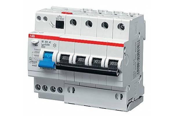 Выключатель авт. диф. тока 4п 6мод. C 32А 30мА тип AC 6кА DS204 ABB 2CSR254001R1324