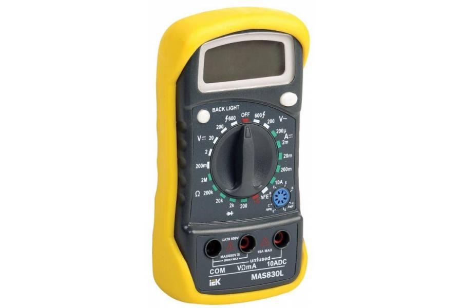 Мультиметр цифровой Master MAS830L IEK TMD-3L-830