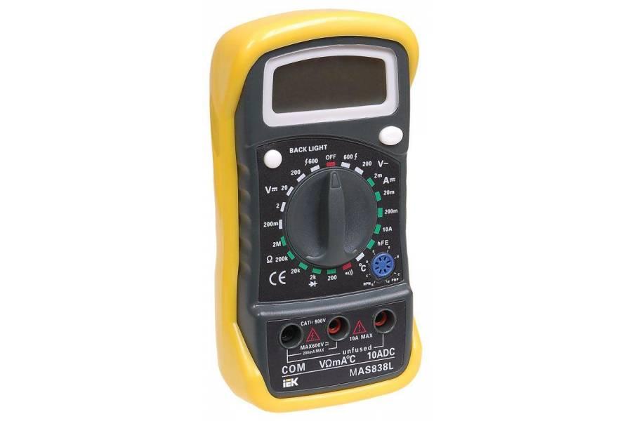 Мультиметр цифровой Master MAS838L IEK TMD-3L-838