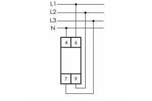 Указатель напряжения LK-713 3 зел. светодиода (сигнализация наличия 3ф 35мм 3х400/230+N IP20 монтаж на DIN-рейке) F&F EA04.007.002